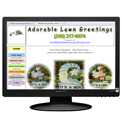Adorable Lawn Greetings