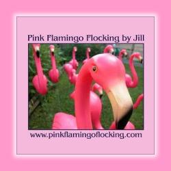 Pink Flamingo Flocking By Jill